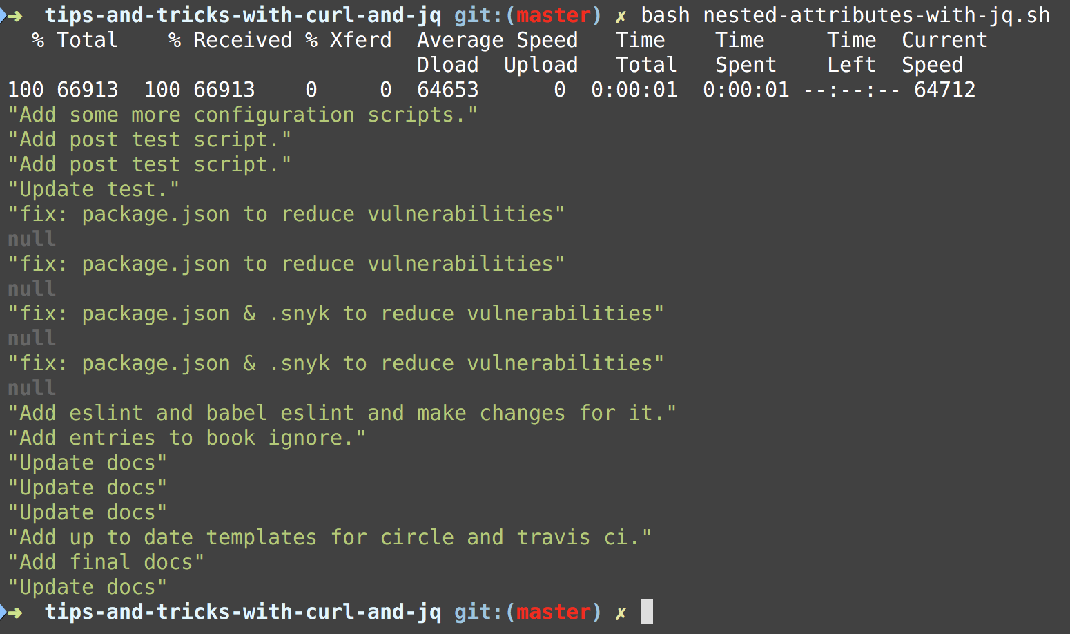Tips and Tricks With Curl and Jq | Software Musings